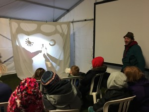 Shadow puppetry with Ian Douglas