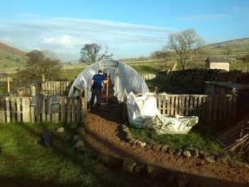 Construction of a polytunnel