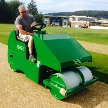 Groundsman on the new roller