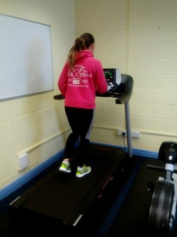 West Cumbria Achievement Zone - Girl on treadmill