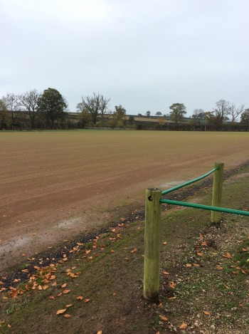Thursby playing field after drainage